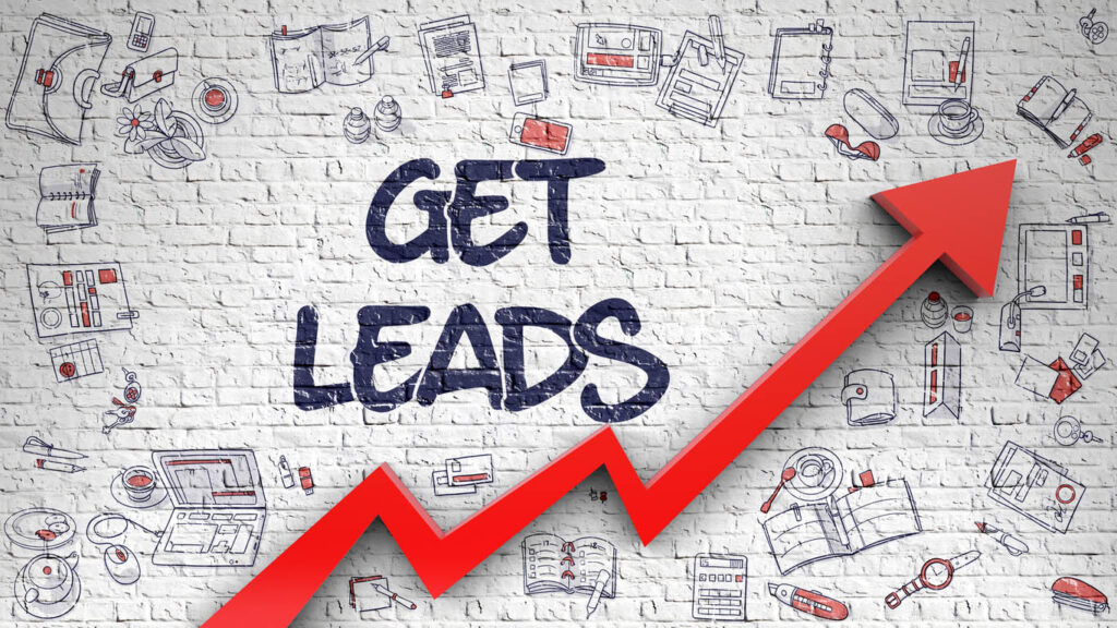 Get Leads Drawn on White Wall. 3D